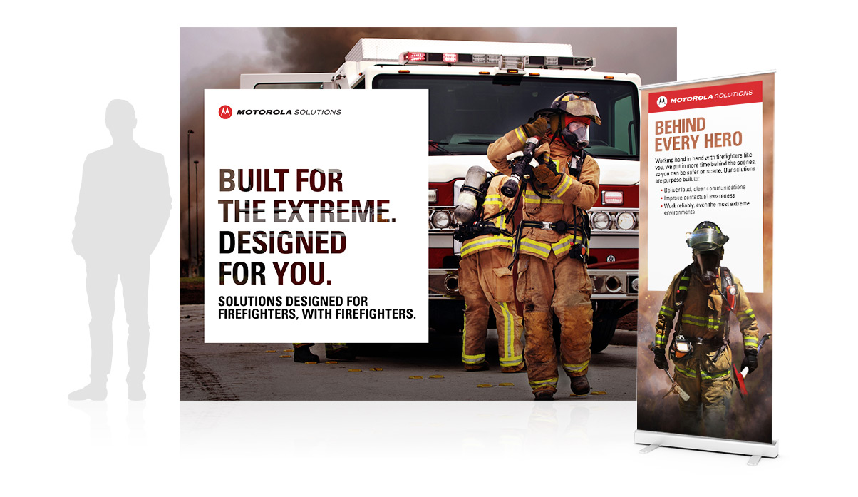 Firefighter Communications tradeshow display
