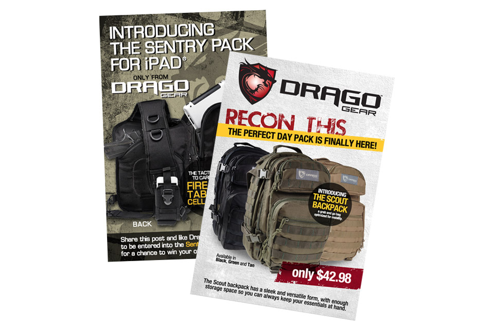 Drago Gear Social Media promotions