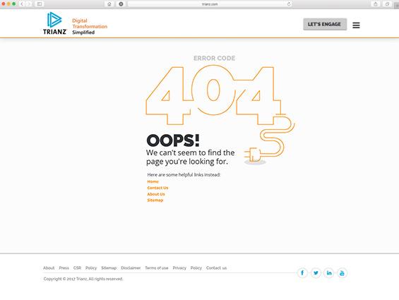 trianz 404 error page