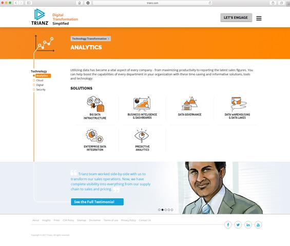 trianz analytics page