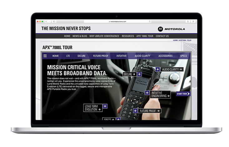 Motorola Solutions apx7000 Product tour Home page