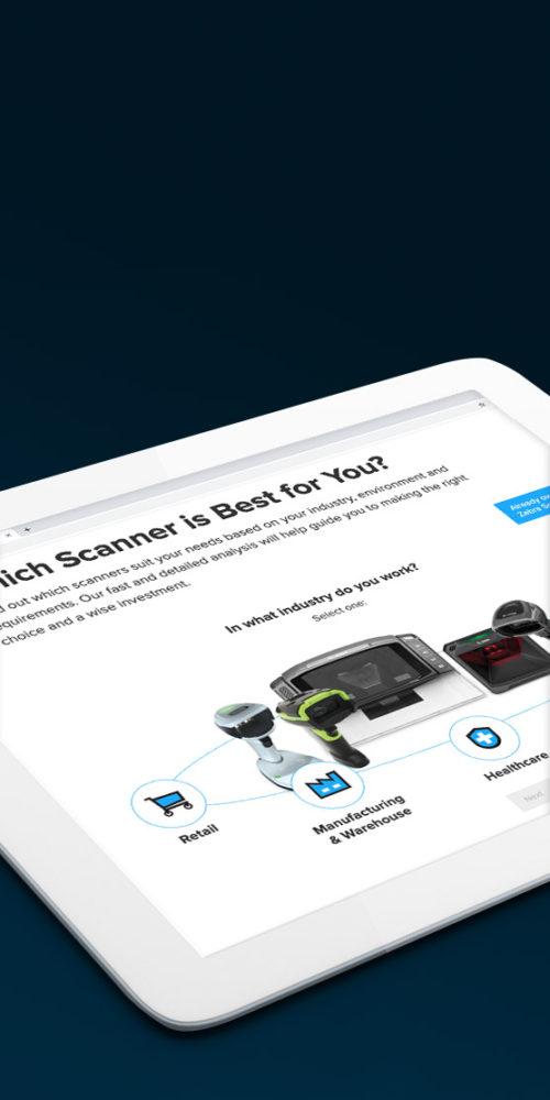 User Interface Zebra Scanner Selector