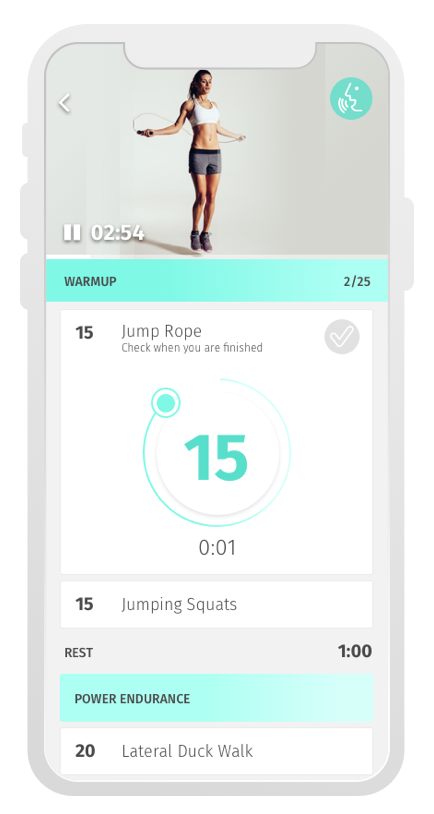 Workout Video Screen
